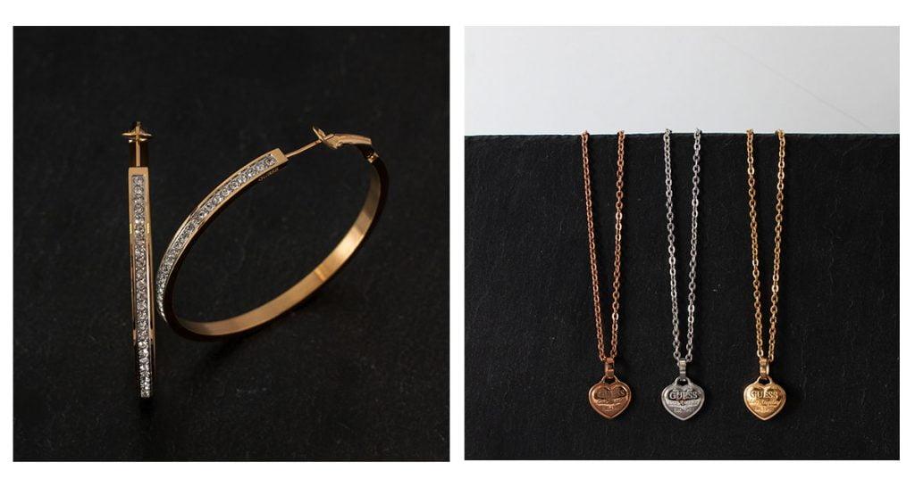 Šperky Guess: náhrdelníky, náušnice, náramky, ale aj rôzne pánske šperky