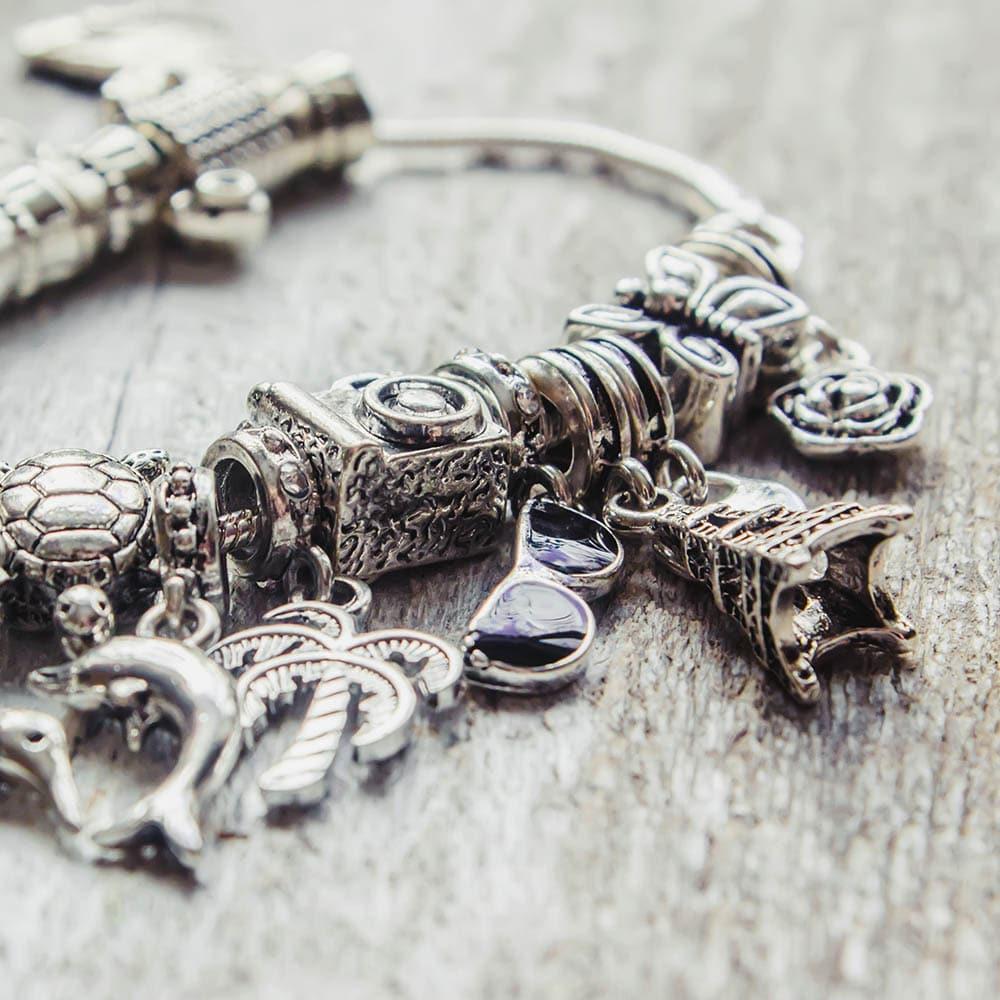 Nezameniteľné šperky Pandora - náramok s príveskami