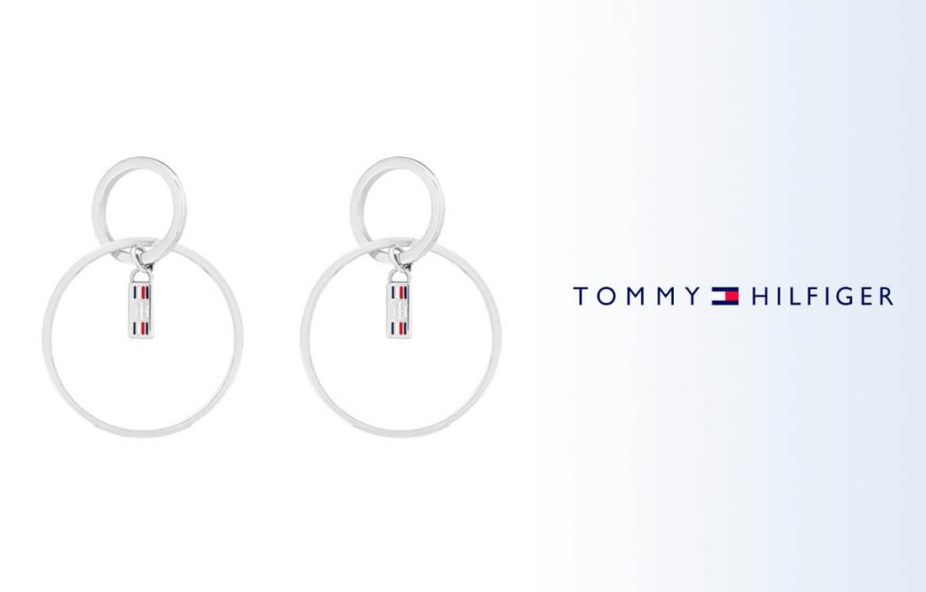 Náušnice Tommy Hilfiger kruhového tvaru