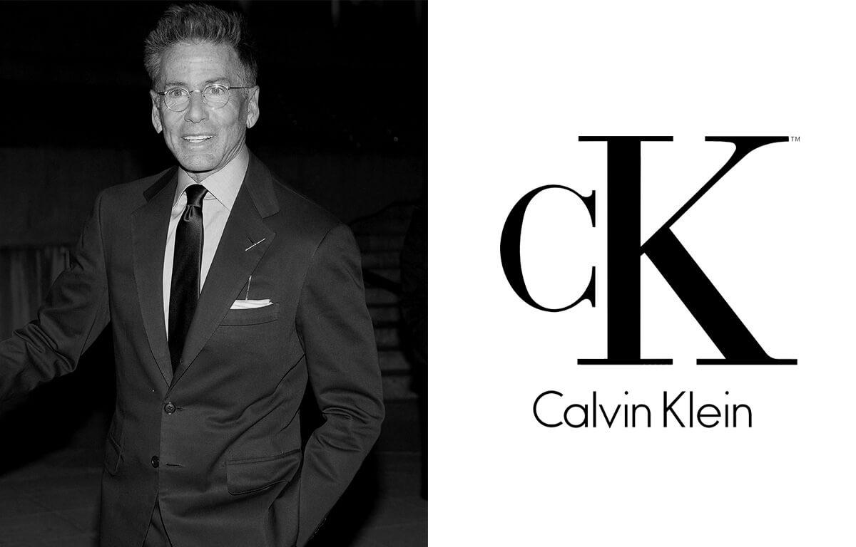 Módny návrhár Calvin Klein a logo značky