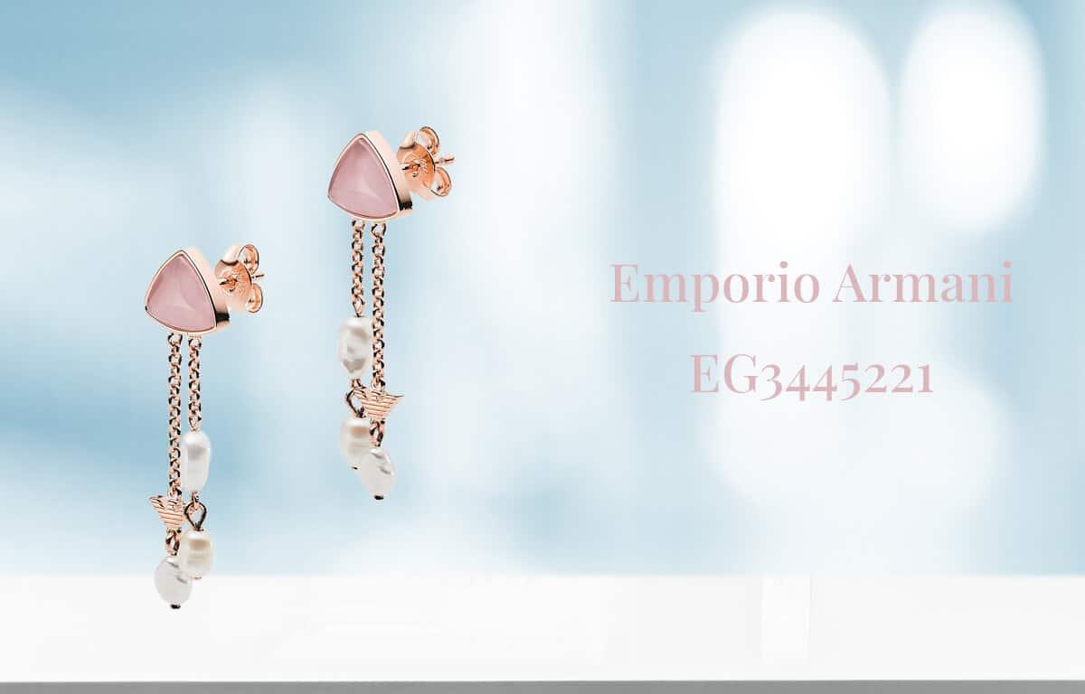 Pozlátené náušnice Emporio Armani - visiace