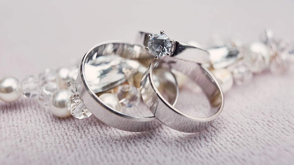 Prstene z bieleho zlata